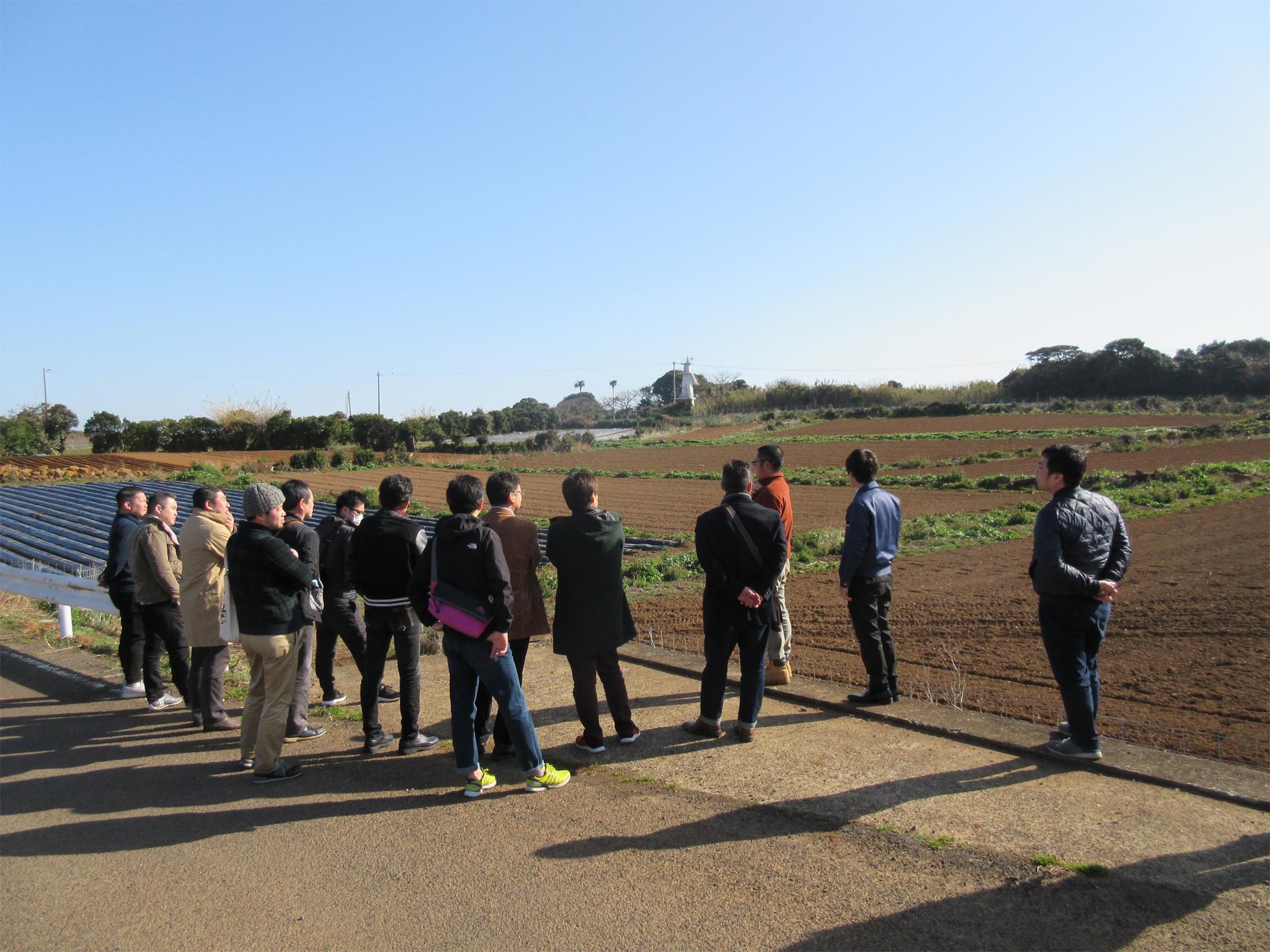 翌日の午前中にグラウンドペチカ、ながさき黄金を栽培している松浦農場をシェフに視察して頂きました。